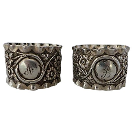 Image of Antique English Sterling Napkin Rings - A Pair