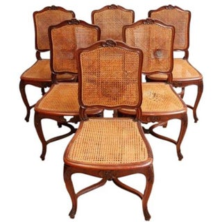 1930s Vintage Rococo Louis XV Dining Chairs - S/6