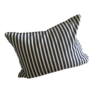Navy & White Designer Pillow