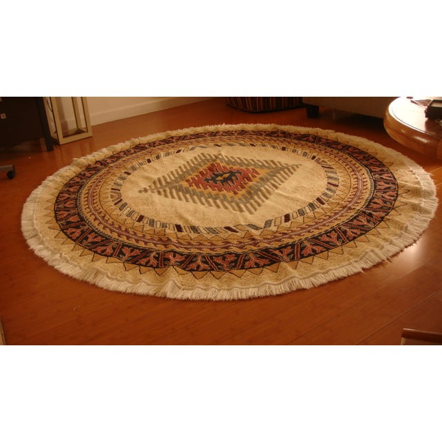 Round Native American Area Rug - 8 x 8 - Image 2 of 6
