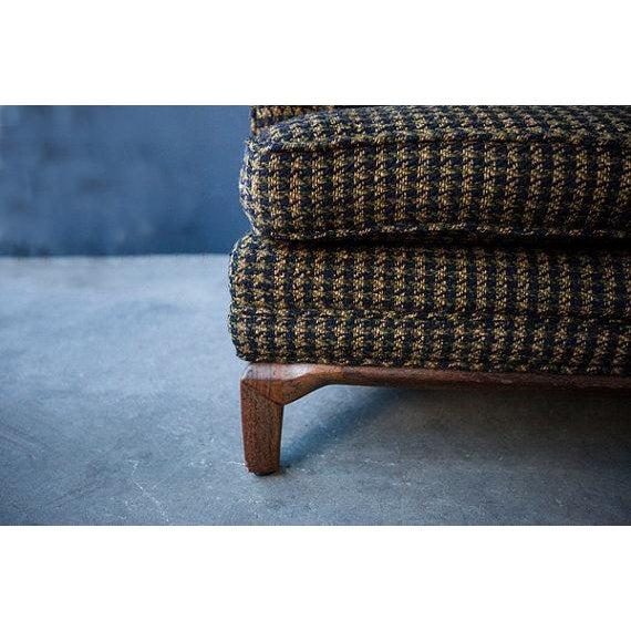 Monteverdi-Young Mid-Century Black Mustard Wool Herringbone Sofa - Image 7 of 7