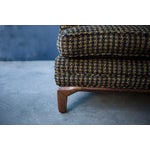 Image of Monteverdi-Young Mid-Century Black Mustard Wool Herringbone Sofa