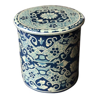 Vintage Delft Tin Canister