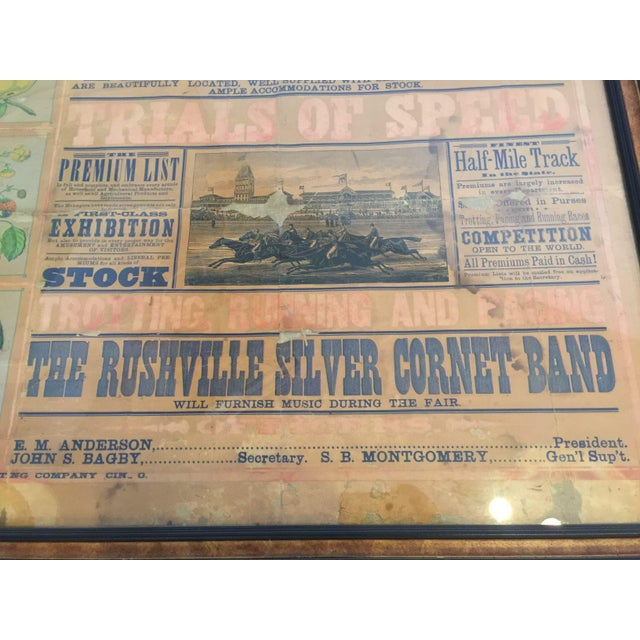Morgan Printing Co. 1883 County Fair Poster - Image 8 of 11