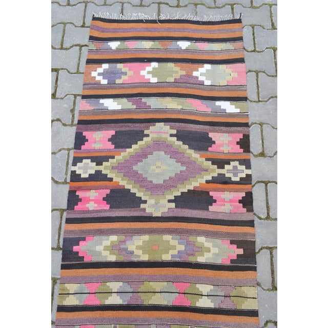 Hand Woven Vintage Turkish Runner - 2′7″ × 9′2″ - Image 7 of 10