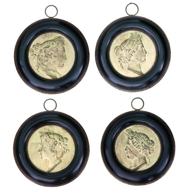 French Framed Gilt Medallions- Set of 4 - Image 1 of 8