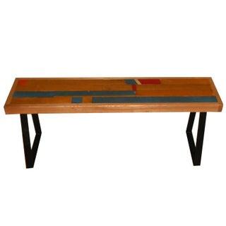 Bench From High School Gymnasium Flooring