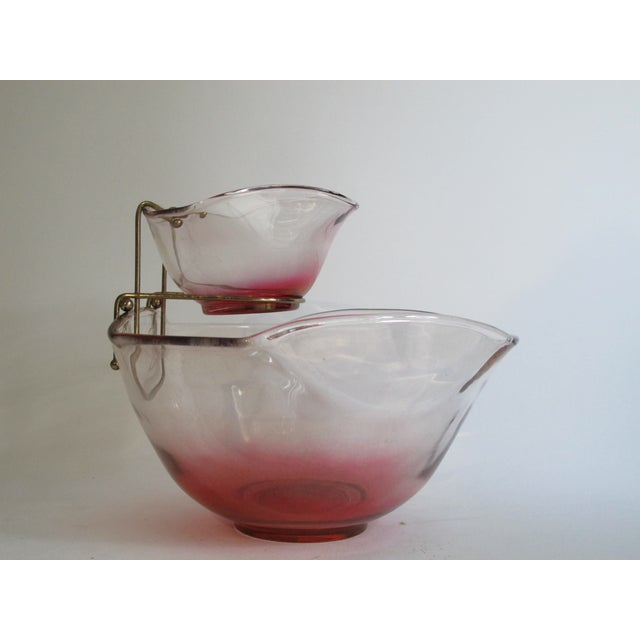 Cranberry Red Chip & Dip Bowl - Image 8 of 8