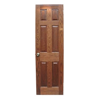 Narrow Colonial Style Raised Panel Oak Door