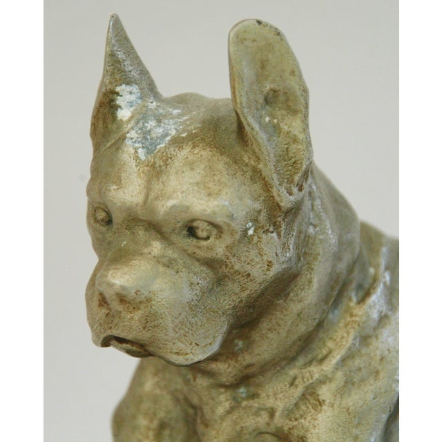 1950's Cast Metal Dog on Marble Base - Image 6 of 10