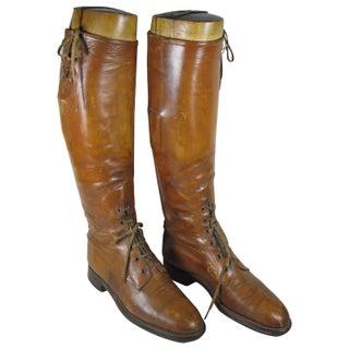 Edwardian English Riding Boots & Wood Trees