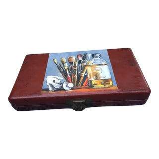 Chinese Red Lacquer Art Box