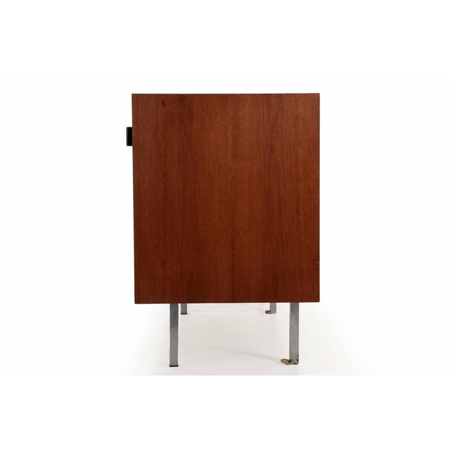 Florence Knoll Walnut and White Laminate Sideboard Credenza, Signed - Image 7 of 11
