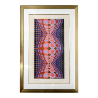 """Victor Vasarely """"Op Art"""" Lithograph"""