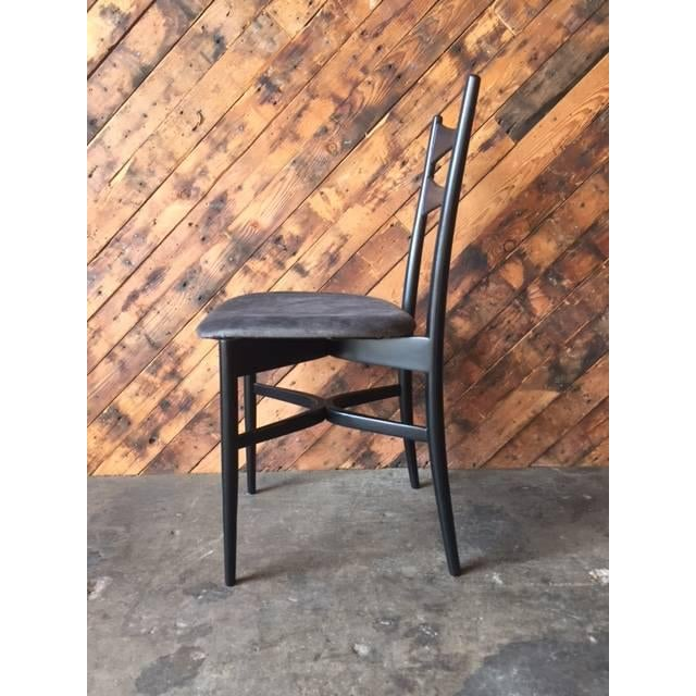 Mid-Century Gio Ponti Style Ladder Back Chairs - Set of 4 - Image 6 of 6