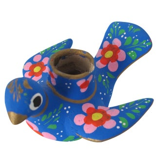Mexican Folk Art Bird Candleholder