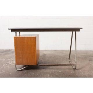 Dutch Deco Style Tubular Desk with Birch Drawers