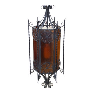 Vintage Spanish Style Wrought Iron Wall Light