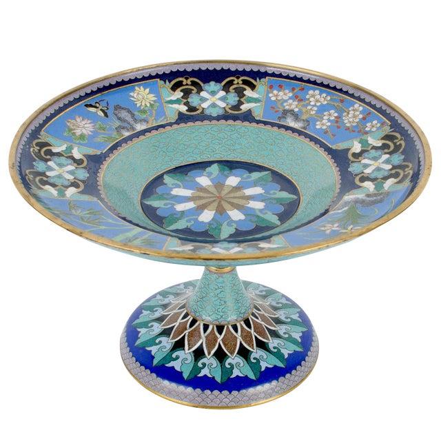 Vintage Cloisonne Pedestal Compote - Image 1 of 7