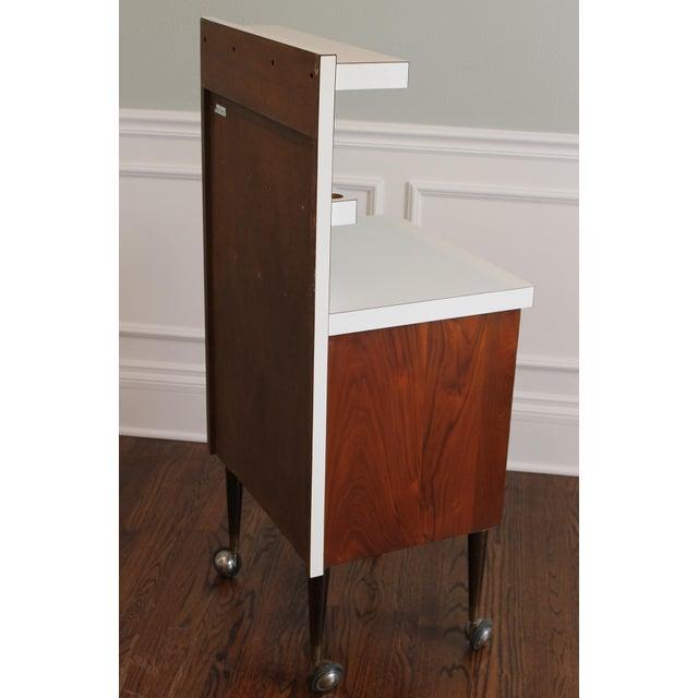 Vintage Rosewood 5-Drawer Cabinet on Casters - Image 8 of 9