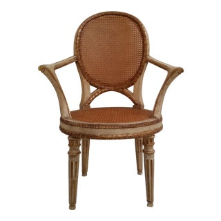 Italian Neoclassical Style Open Armchair