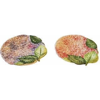 Isabella De Borchgrove Italian Flower Plates - A Pair