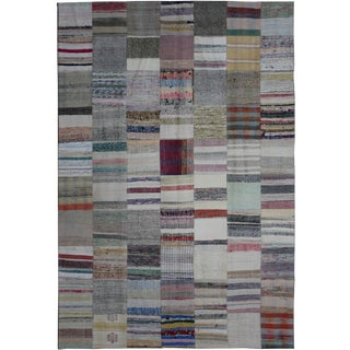 "Hand Knotted Patchwork Kilim by Aara Rugs Inc. - 9'8"" X 6'10"""