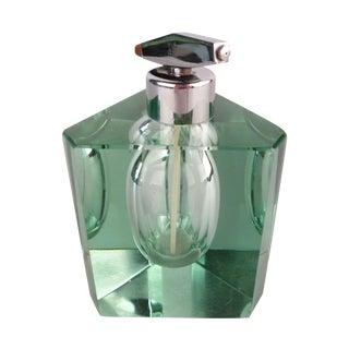 Green Tinted Crystal Perfume Bottle