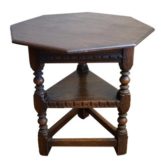 19th Century Jacobean Occasional Table