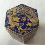 Image of Vintage Cloisonné Hexagon Box