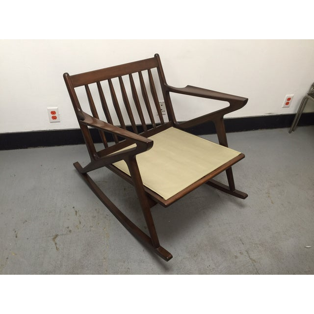 Mid century custom z rocking chair chairish for Z chair mid century