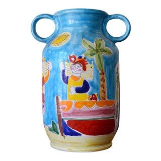 Mid Century Italian La Musa Handled Ceramic Vessel