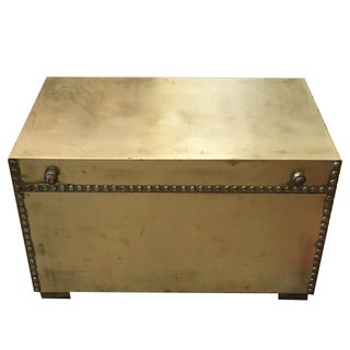 Midcentury Brass Trunk