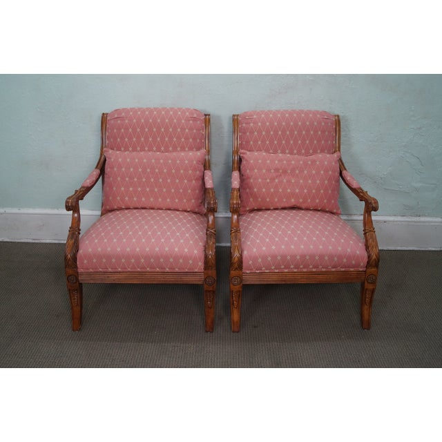 French Empire Regency Arm Chair Fauteuils - Pair - Image 2 of 10
