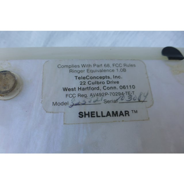 Vintage White Clamshell Telephone - Image 10 of 11