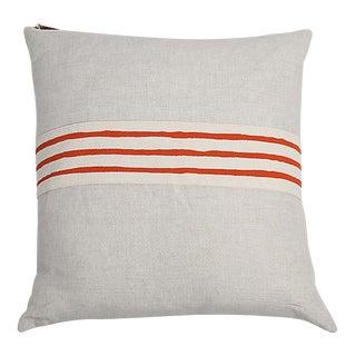 Erin Flett Linen Pillow With Trim