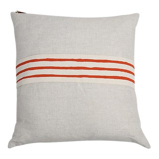 Erin Flett Linen Pillow With Trim
