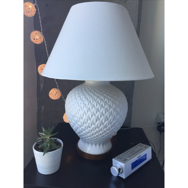 Ralph Lauren White Porcelain Pineapple Lamps Pair Chairish