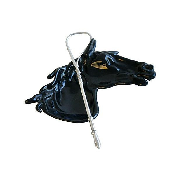 Image of 1950s Enameled Horse & Crop Catchall Dish