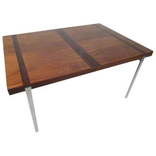 Mid-Century Rosewood Inlay Dining Table