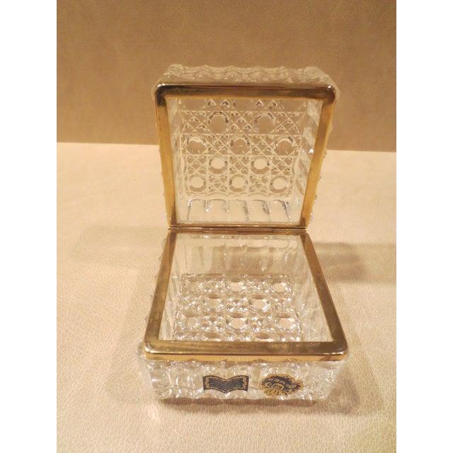 Vintage 1970s Beyer Crystal Glass Vanity Box - Image 5 of 7