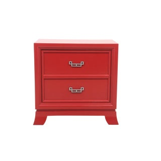 Red American Drew Ming End Table