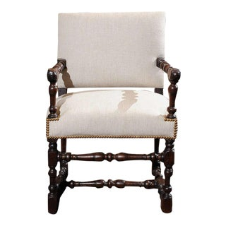 Carved Oak Armchair, French circa 1700