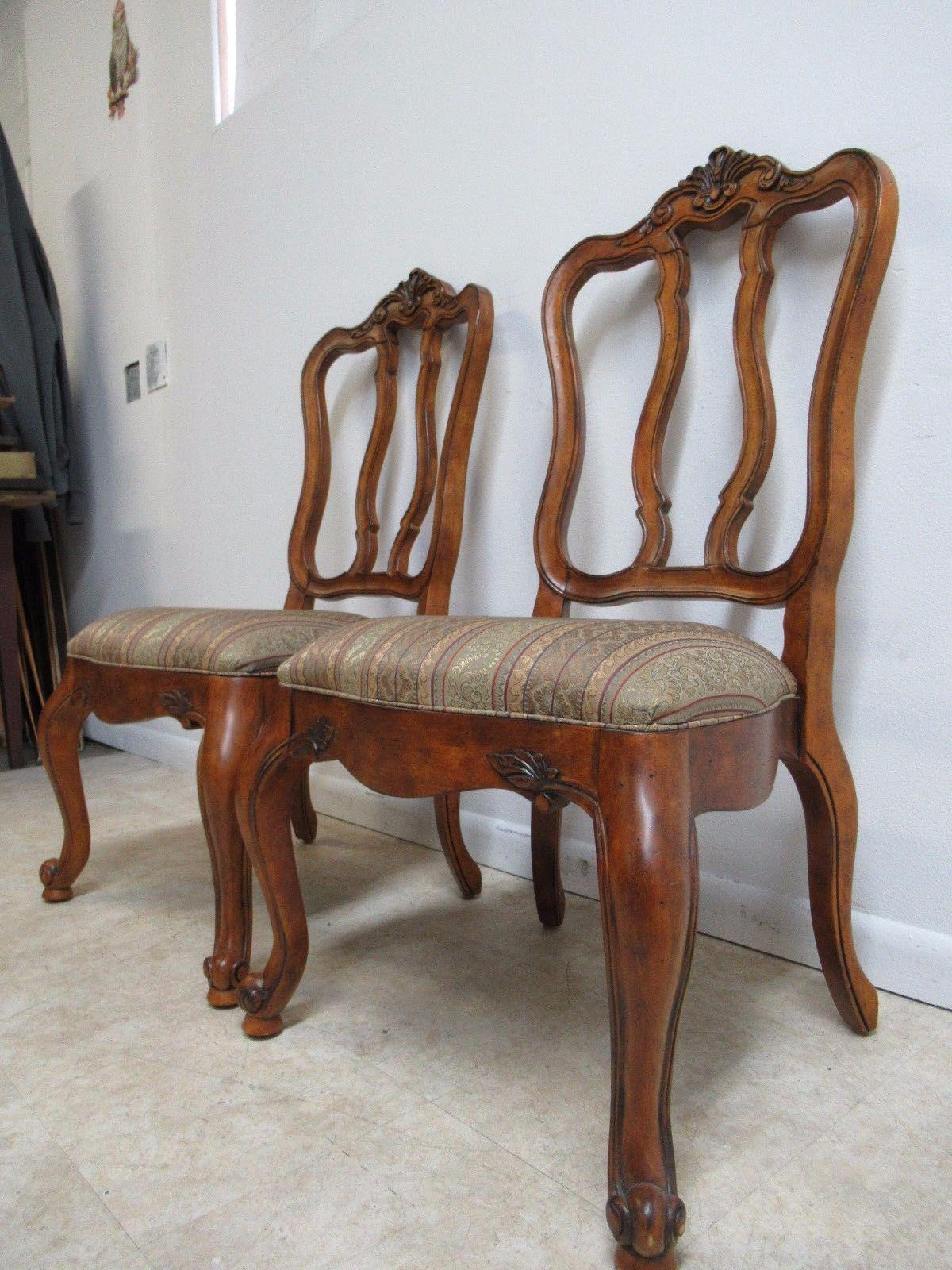 Ethan Allen Tuscany French Carved Dining Room Side Chair   Image 3 Of 9