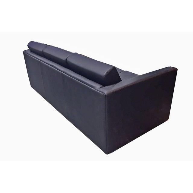 Brayton International Black Leather 3 Seater Sofa - Image 9 of 9