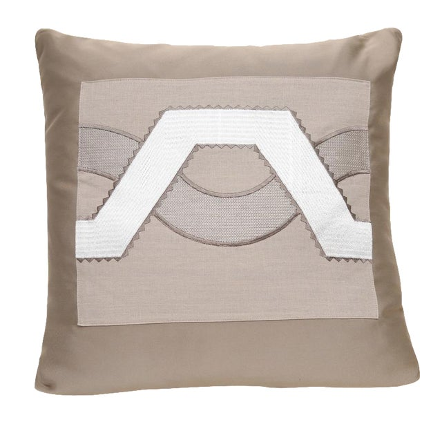 Beige Satin Wave Pillow - Image 1 of 3