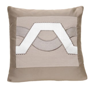 Beige Satin Wave Pillow
