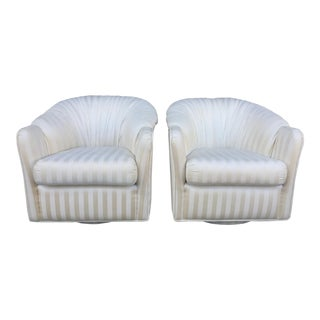 1980's Swivel Armchairs - A Pair