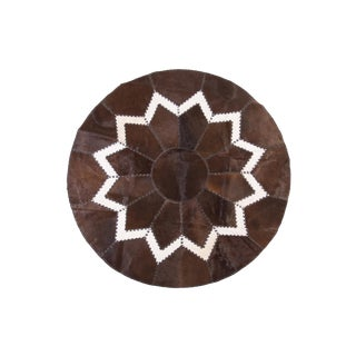 """Aydin Cowhide Patchwork Rug - 7'0"""" x 7'0"""""""