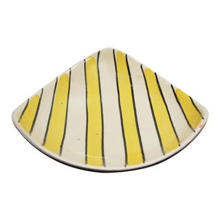 Mid-Century Black and Yellow 1950s Dish